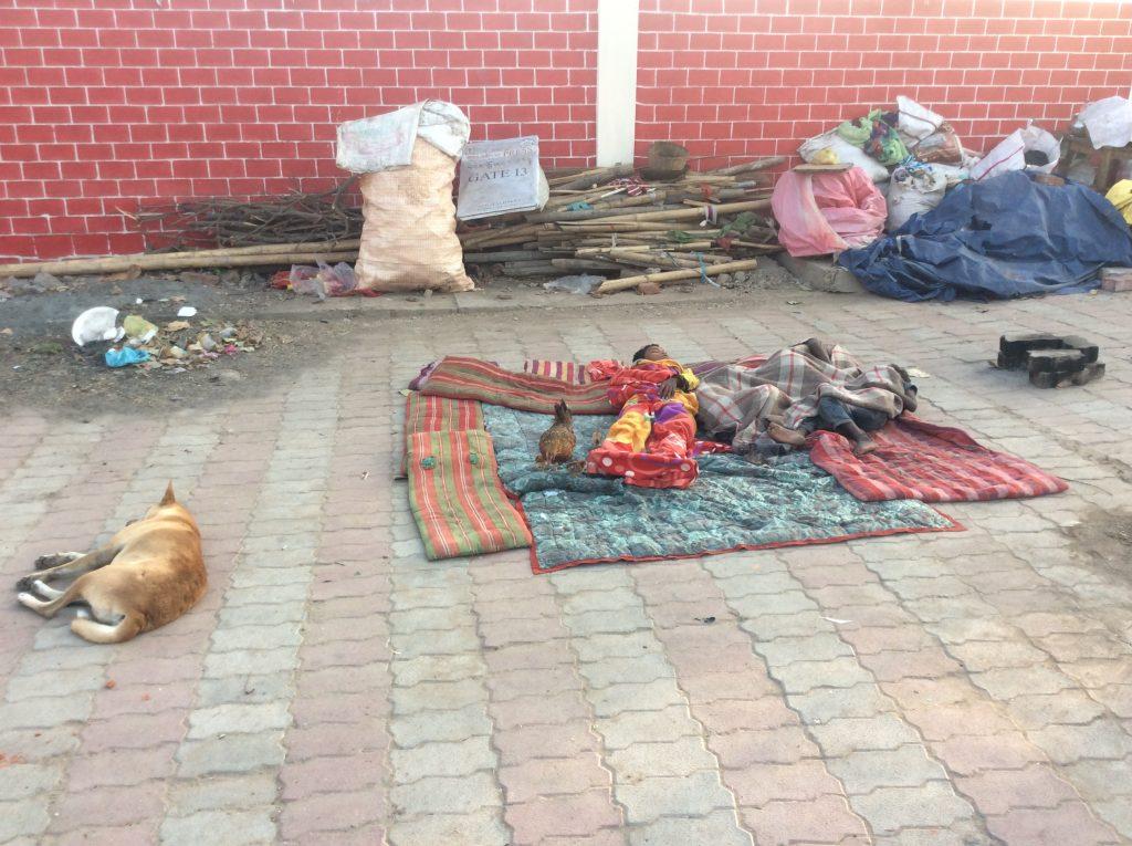 Dzieci, śpiące na ulicy